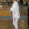 Bettie Graham fences in the Veteran-70+ Women's Epee World Championship.