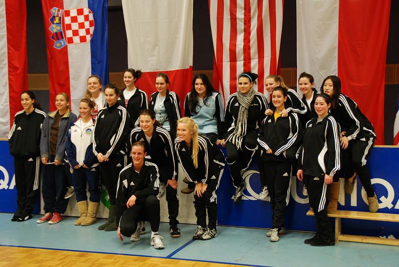 The US fencers at the Modling, Austria cadet designated tournament.