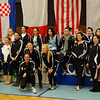 The US fencers at the Modling, Austria cadet designated tournament.