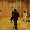 There was a week in between the Heidenheim and Modling tournaments.  We practiced during that week at Club Balmung (above) in Vienna, Austria.  That's Fencing Master Evgeni Pickman, Austrian national junior epee coach, in the center. (Ashley Severson, from the US, on the right.)