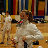 Channing Foster preparing to fence in the Modling Cadet Designated tournament (Internationales Edi Schwarzer Kadettenturnier).