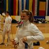 Channing Foster preparing to fence in the Modling Cadet Designated tournament (Internationales Edi Schwarzer Kadettenturnier).