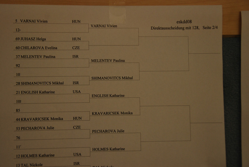 Katharine Holmes, seeded 12th, fences a Czech fencer in the round of 64.