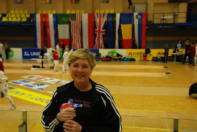 Jean Finkleman between the pool and DE rounds in Modling, Austria.