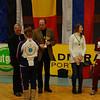 US fencer Natalie Gegan receives her trophy for placing 6th in Modling.
