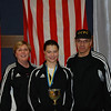 Katharine Holmes with her coaches Jean Finkleman and Raymond Finkleman.
