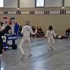 US fencer Grace Neveu in the DE round on the second day.