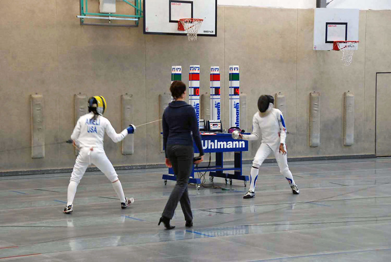 Nik Nik Ameli in the second day of competition in Heidenheim, Germany.