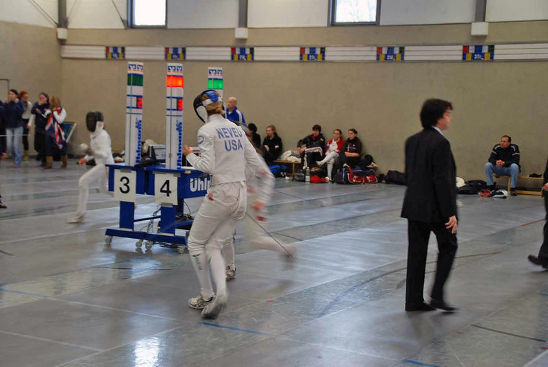 Grace Neveu in the second day of competition.