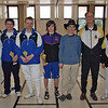 The finalists at the 2008-2009 CCFC D&Under Mixed Epee:  From left: Conrad Sutter (1st), Theodore Cohen (2nd), John Krempasky (3rd), Alec Walker (3rd), Daniel Wiggins (5th), Mark Henry (7th), Nader Salass (8th).  Not pictured: John Ferro (6th).