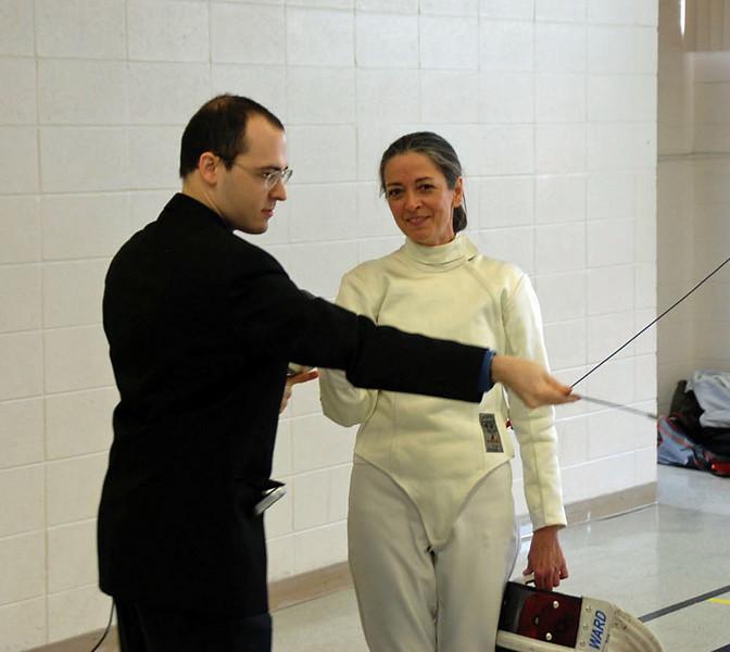 Lewis Sloter (referee) and Beth Ward.