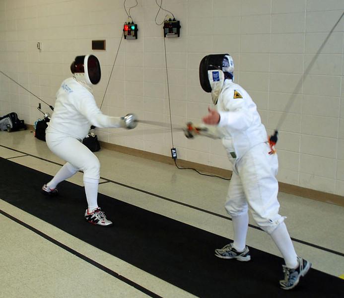 David Sapery (left) vs Bettie Graham.
