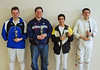 From left, John Krempasky (3rd place), David Sapery (3rd place), Nader Salass (2nd place), Adam Cardinal-Stakenas (1st place).