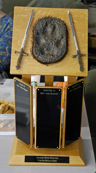 The permanent trophy for the Fences With Wolves Tournament.