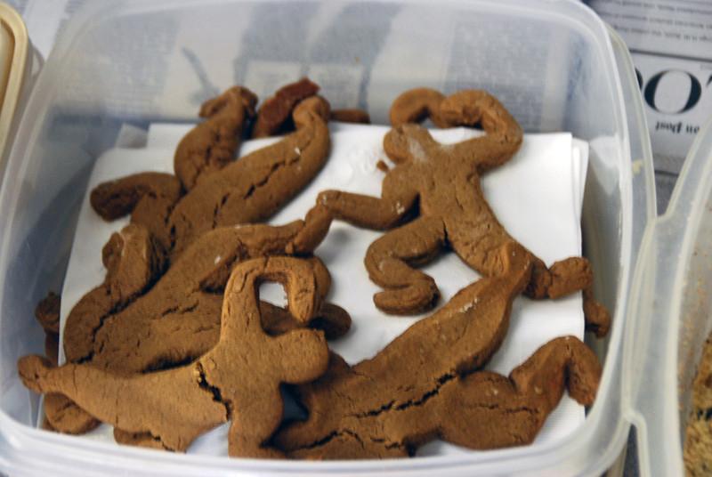 Gingerbread fencers.