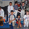 The medal winners in the Youth-10 Mixed Epee.