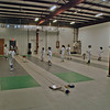 Chevy Chase fencers warm-up with each other before the tournament starts.