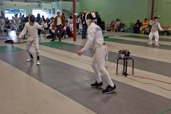 Simon Hardy and Jean-Luc Sensenbrenner compete in the gold medal bout.