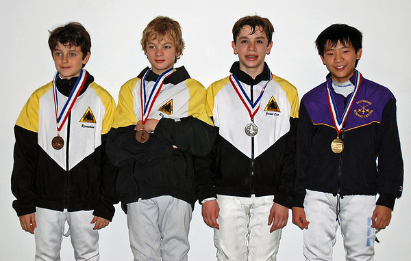 From left: Romain Hufbauer (3rd), Simon Hardy (3rd), Jean-Luc Sensenbrenner (2nd), Matthew Lee (1st).