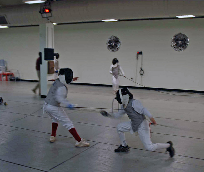 Raphael Sitbon-Taylor (right) in the Y12 & Under Mixed Foil.