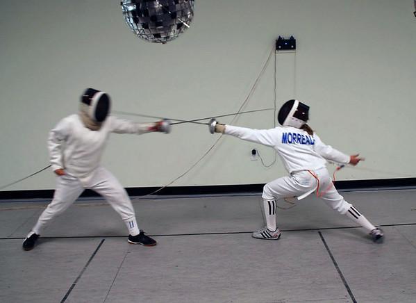 Cameron Sullivan (left) vs. Olivia Morreale.