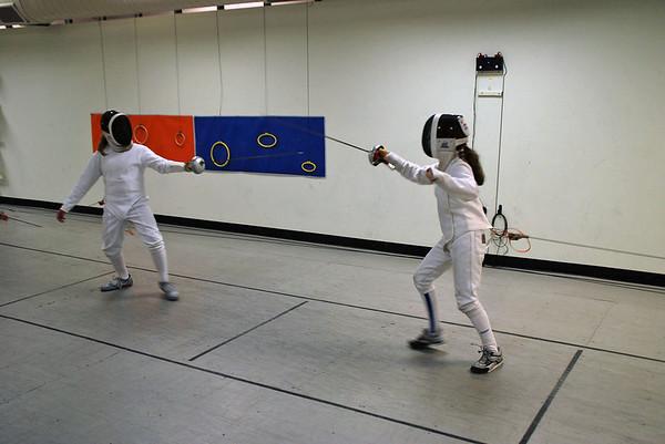 Olivia Morreale (left) vs. Elizabeth Wiggins.