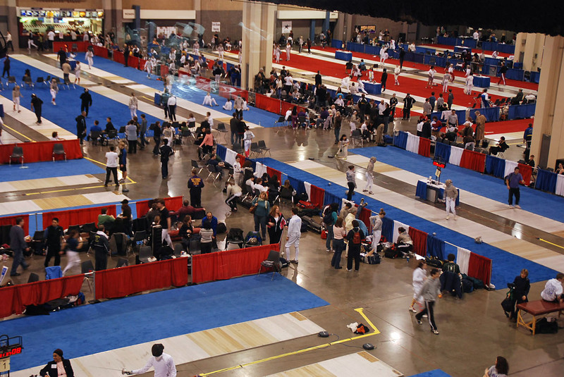 The competition venue at the Charlotte Convention Center.
