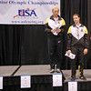 Annie Stephenson, 3rd Place, and Katharine Holmes, 5th Place, in Cadet Women's Epee.