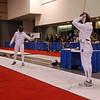 Ben Cohen warming up before the Junior Men's Epee.