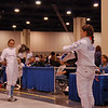 Katharine Holmes salutes in the Junior Women's Epee.