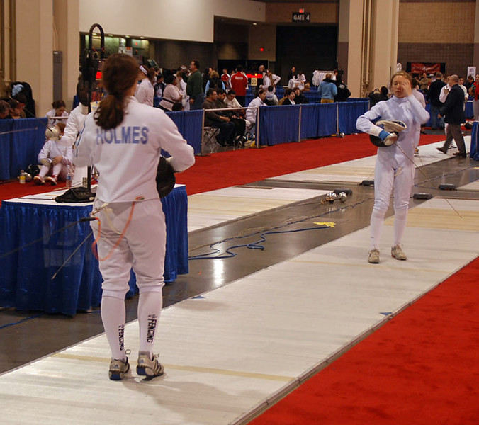 Katharine Holmes in the Cadet Women's Epee.