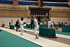 Annie Stephenson (right) in the Cadet Women's Epee.