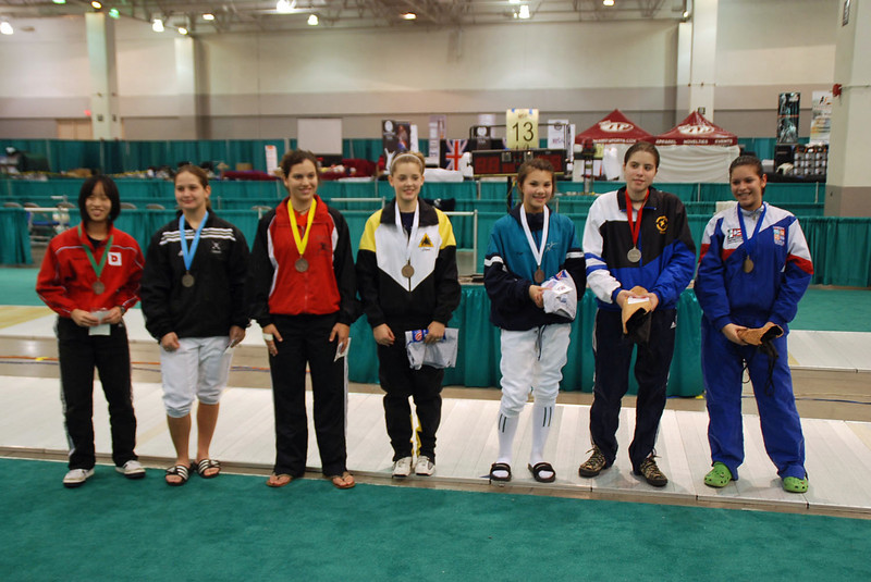 Finalists in Division III Women's Foil