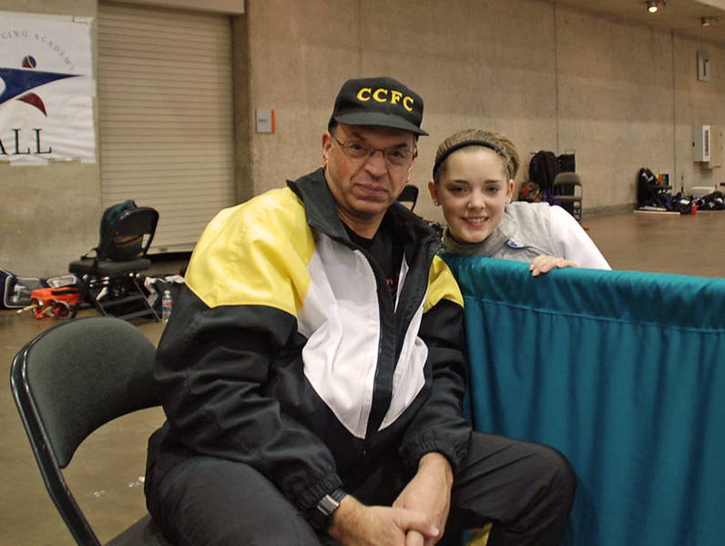 Fencing Master Raymond Finkleman and his student, Lena Abraham.