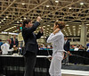 Ella Barnes weapon check in the Y14 Women's Epee.