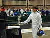 Ben Cohen in the Cadet Men's Epee.