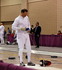 Mark Henry hooks up for a pool bout in the Veteran 60+ Men's Epee.