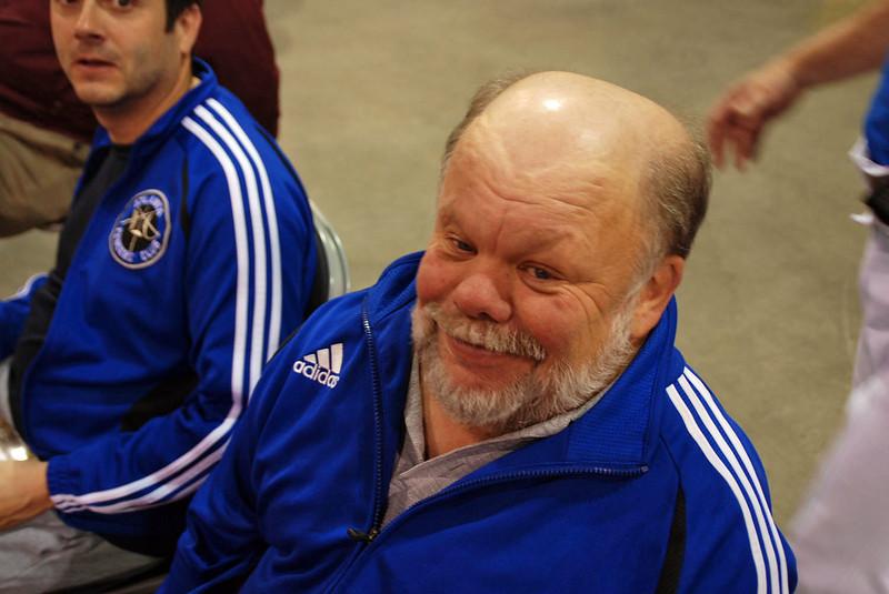 Gene Gettler, fencing master of the Atlanta Fencers Club.