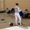 Lena Abraham in the Division I Women's Foil.