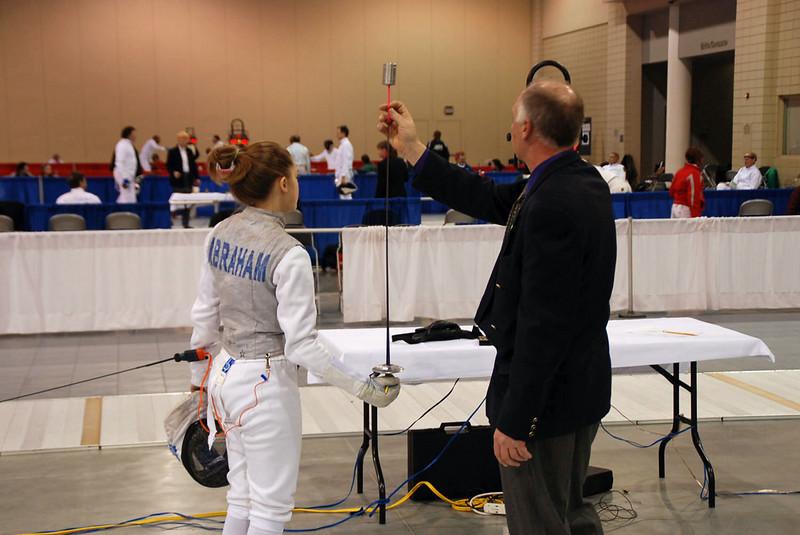 Lena Abraham's foil gets tested.