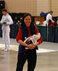 Beth Ward arrives for weapons' check the day before her first event.