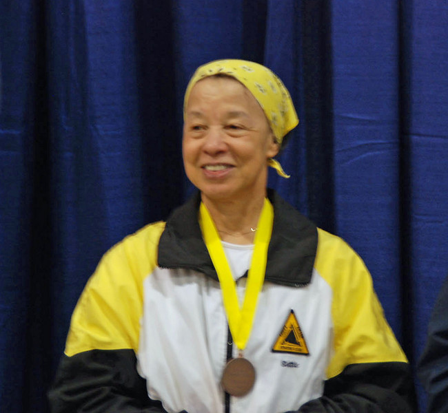 Bettie Graham, 5th Place Veteran 60+ Women's Foil.