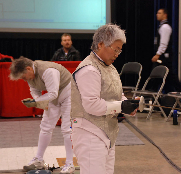 Aeran Lee in the Veteran 60+ Women's Foil.