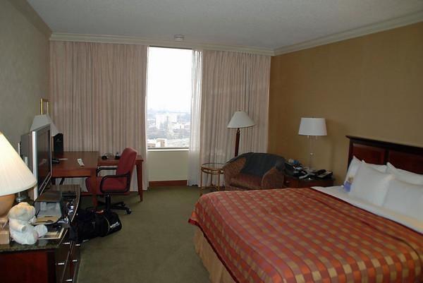 My hotel room at the Atlanta Hilton.