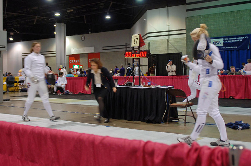Annie Stephenson in the Junior Women's Epee.