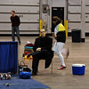 Lewis Sloter watches his clubmates in the Division II Women's Epee.