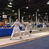 Aeran Lee, right, in the Vet 60+ Women's Foil.