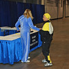 Bettie Graham receives her 6th place medal in the Veteran 60+ Women's Foil.