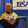 Aeran Lee, 5th place, Veteran 60+ Women's Foil.