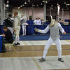 Julian Moiseiwitsch fences in the Veteran (40+) Men's Foil.